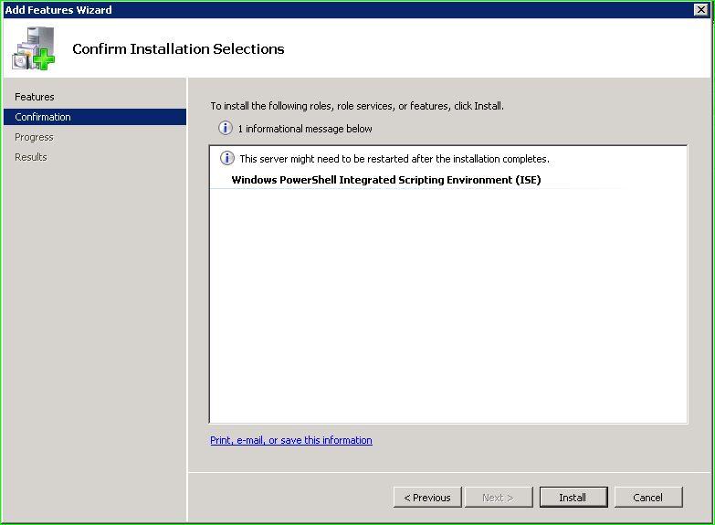 Enabling PowerShell ISE on Windows Server 2008 R2 – vitblurb